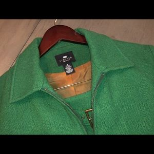 The Limited Green Wool Mini-Skirt Suit